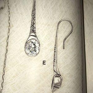 Silpada Cubic Zirconia Sterling Silver Earrings